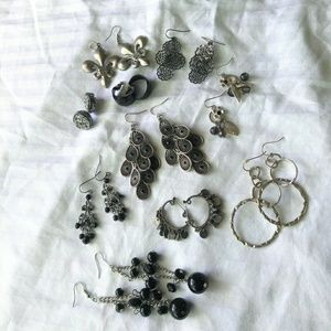 10 Pairs of Earrings for Pierced Ears Bundle
